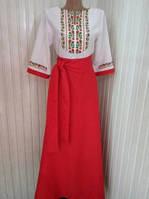 """Вишиванка платье женское в пол """"Изысканность"""""""