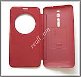 Бордовый чехол View Flip Cover для смартфона Asus ZenFone 2 ZE551ML, фото 2