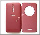 Бордовый чехол View Flip Cover для смартфона Asus ZenFone 2 ZE551ML, фото 4