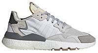 "Мужские Кроссовки Adidas Nite Jogger  ""White Gray"" - ""Белые Серые"" (Копия ААА+), фото 1"