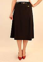 Трикотажная классическая юбка ниже колен 42-48 р ( разные цвета )