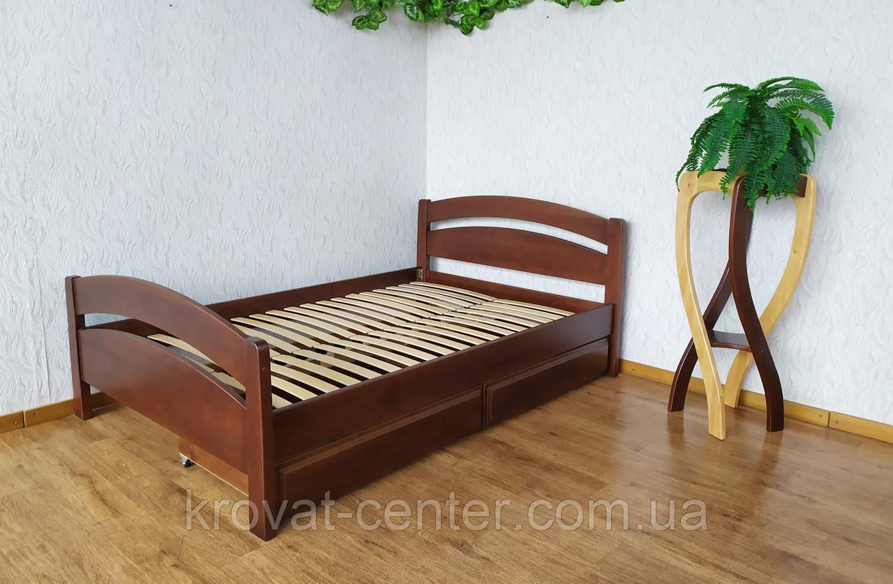 """Кровать двуспальная с выдвижными ящиками из дерева """"Марта"""" от производителя"""