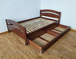 """Кровать двуспальная с выдвижными ящиками из дерева """"Марта"""" от производителя, фото 3"""