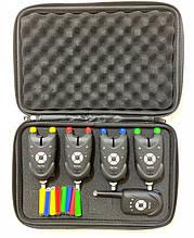 Набір сигналізаторів покльовки електронних Big Fish, модель 511, 4шт + пейджер