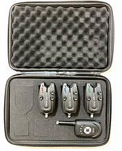 Набір електронних сигналізаторів клювання Big Fish, модель 522, 3шт + пейджер