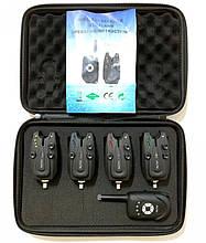 Набір сигналізаторів клювання електронних Big Fish, модель 522, 4шт + пейджер