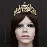 Корона, диадема, тиара под серебро, высота 6,5 см., фото 6