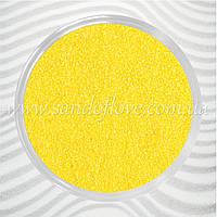 Желтый цветной песок
