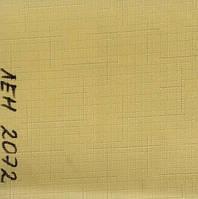 Рулонная штора Лён (580х1600). Желтый. 2072