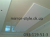 Монтаж глянцевого  натяжного потолка с внутренним вырезом г Черкассы по ул Королева.