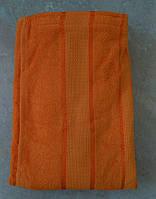 Парео мужское банное махровое (оранжевое) 75*140