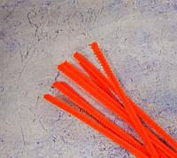 Пушистая синельная проволока, оранжевая, 30см.