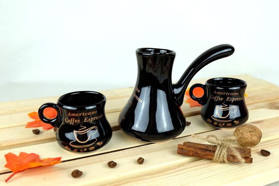 Турка «Любовь» керамическая с чашками 150 мл