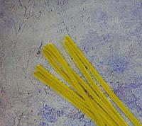 Пушистая синельная проволока, жёлтая, 30см.