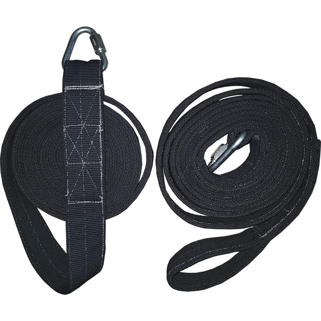Ремни повышенной прочности для воздушной гимнастики Circus-Pro Heavy duty 2,5m-5m 5м, Чёрный