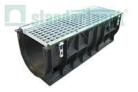 Комплект: лоток 30.39.38 пластиковый DN 300 с решеткой стальной ячеистой