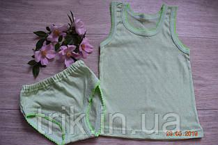 Комплект нижнего белья для девочки оливковый мультирип отделка крошет, фото 3