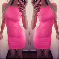 Женское летнее  Платье нежно розовое