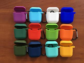 Чехол-накладка силикон Карабин Thin+карабін для Apple AirPods ОПТОМ