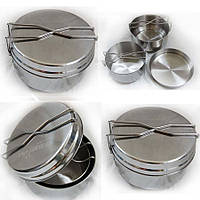 Набор посуды 3 предметн. из нержавеющей стали