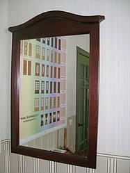 """Дзеркало для спальні в дерев'яній рамці """"Мікель"""""""