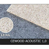 Акустическая панель CEWOOD, шир.волокна 1 мм, натур. цвет, 600мм. * 600мм. * 15мм., фото 1