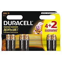 Батарейка Duracell Basic AA/LR06 BL 4+2шт
