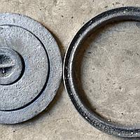 Крышка чугунная конфорка на буржуйку д 300 мм (вес-10 кг)