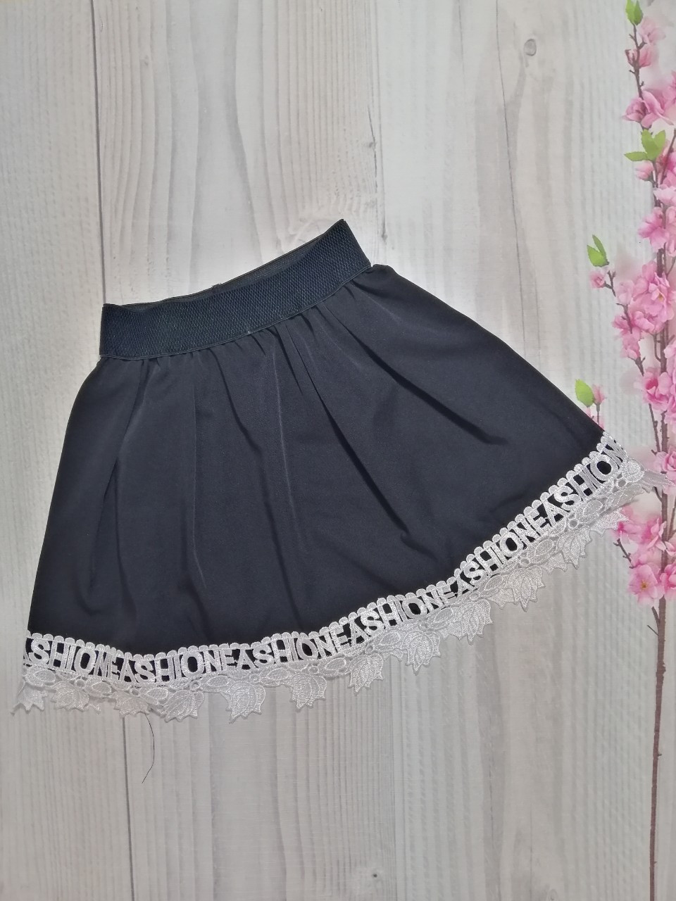 Школьная юбка для девочки т. синяя р. 134-152 опт