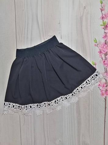 Школьная юбка для девочки т. синяя р. 134-152 опт, фото 2