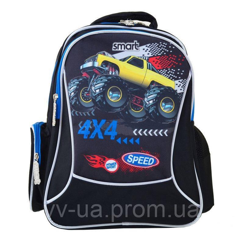 Рюкзак для школы Smart ZZ-03 Speed 4*4, для мальчиков, синий (557687)