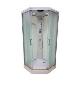 Італійський душовий бокс 90х90х215 VERONIS МАТОВИЙ BN-1-90 (XL)  з кришою