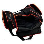 Спортивная сумка adidas Defender II Duffel medium чёрно-оранжевого цвета Оригинал, фото 3