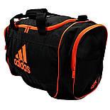 Спортивная сумка adidas Defender II Duffel medium чёрно-оранжевого цвета Оригинал, фото 2