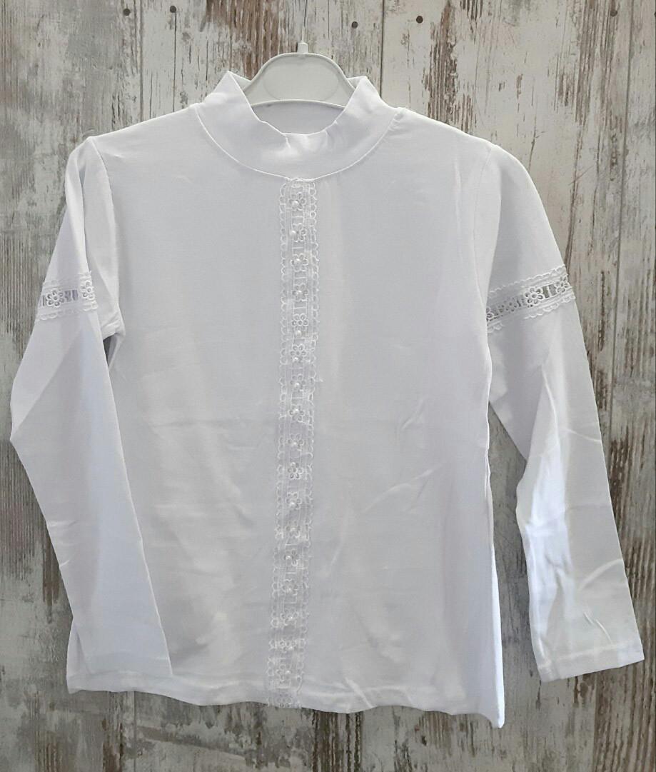 Детская школьная блузка на девочек 9-12 лет, Турция, оптом