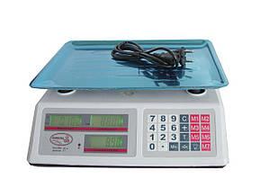 Весы торговые Domotec DT52 6V на 50 кг электронные весы со счетчиком цены