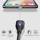 IPSKY Магнитный кабель USB Type-C быстрая зарядка 3А для Android Samsung Xiaomi для зарядки Цвет Чёрный, фото 3