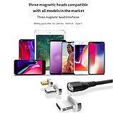 IPSKY Магнитный кабель USB Type-C быстрая зарядка 3А для Android Samsung Xiaomi для зарядки Цвет Чёрный, фото 4