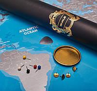 НОВИНКА Скретч Карта Мира Мапа Світу Необычный Подарок на День Рождения на Свадьбу Мотивационный постер