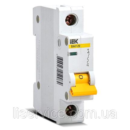 Автоматический выключатель ВА47-29 1Р 40А 4,5кА х-ка C IEK, фото 2