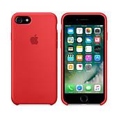 Чехол для iPhone 7/8 Silicone Case (Лучшая копия Apple) - красный