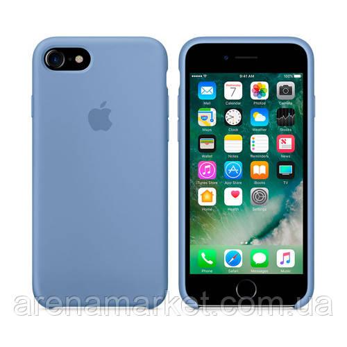 Чехол для iPhone 7/8 Silicone Case (Лучшая копия Apple) - синий