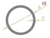 Труба круглая 15х2