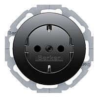 Розетка с з/к 16А/250В Berker R.Classic Чёрный (47452045)