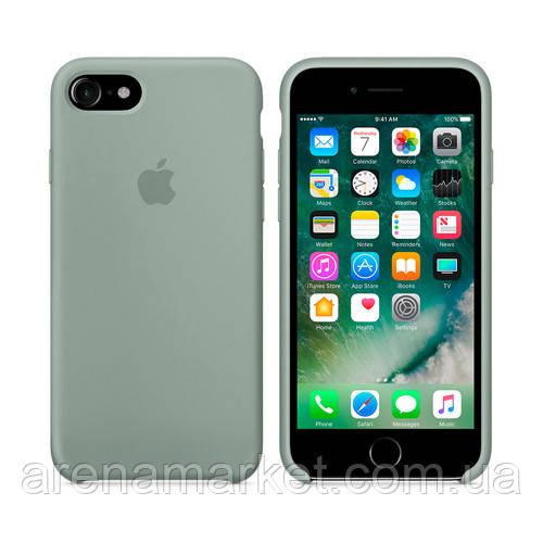 Чохол для iPhone 7/8 Silicone Case (Найкраща копія Apple) - світло-блакитний