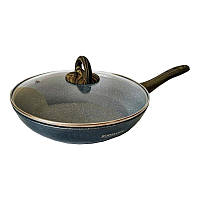 Сковорода с мраморным покрытием  и крышкой 20 см Bohmann BH 1006-20 MRB