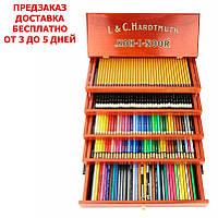 Набор художественный KOH-I-NOOR Retro 180 предметов в деревянном 5-ти уровневом комоде, 8896000005