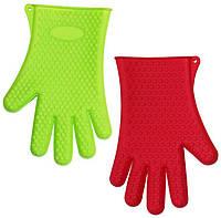 Перчатки кухонные силиконовые цветные 1шт