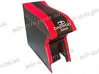 Подлокотник NEW красный с вышивкой Daewoo Lanos Sens Дэу Ланос Сенс