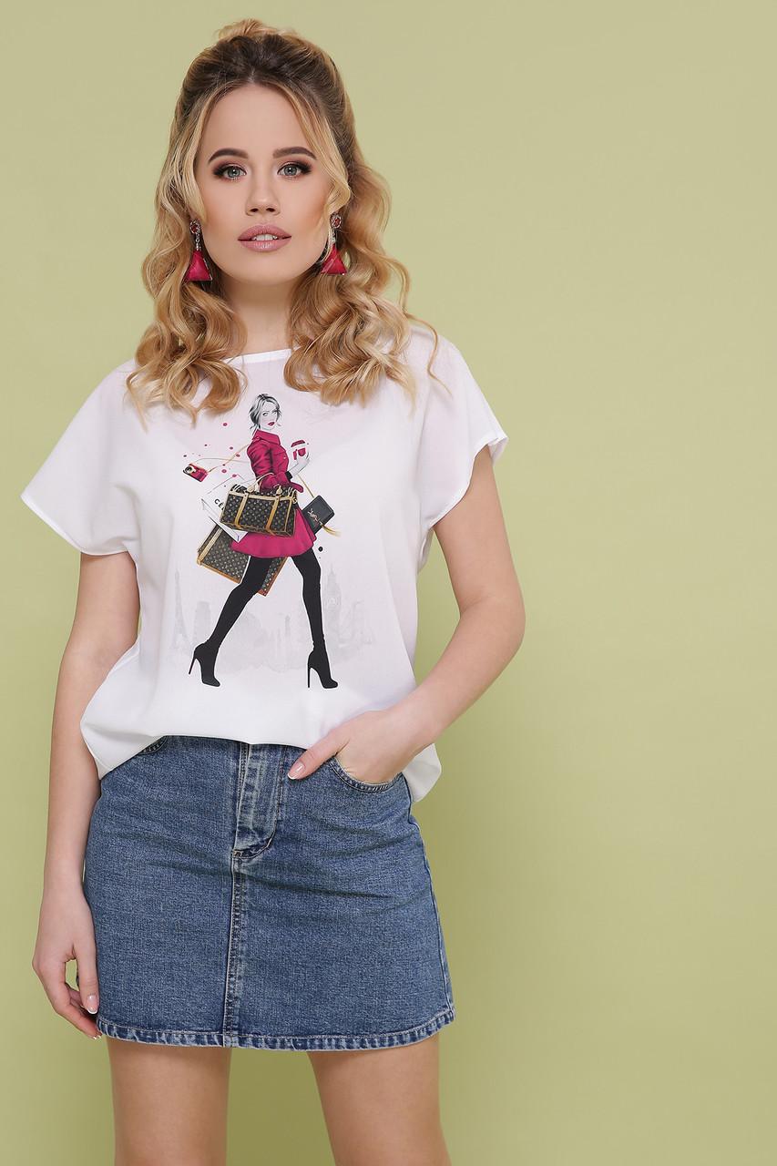 Девушка с покупками блуза Мира-2 б/р
